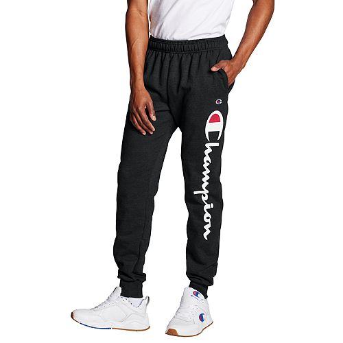 aa8f299305d1 Men s Champion Script Logo Fleece Jogger Pants
