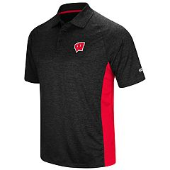 Men's Colosseum Wisconsin Badgers  Wedge Polo