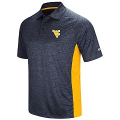 Men's Colosseum West Virginia Mountaineers  Wedge Polo