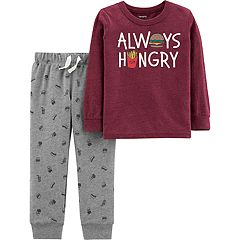 Baby Boy Carter's 'Always Hungry' Tee & Jogger Pants Set