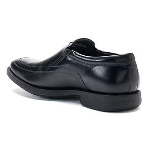 Nunn Bush Dylan Men's Moc Toe Double Gore Dress Slip-Ons