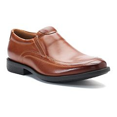 Nunn Bush Dylan Men's Moc Toe Double Gore Dress Slip-Ons