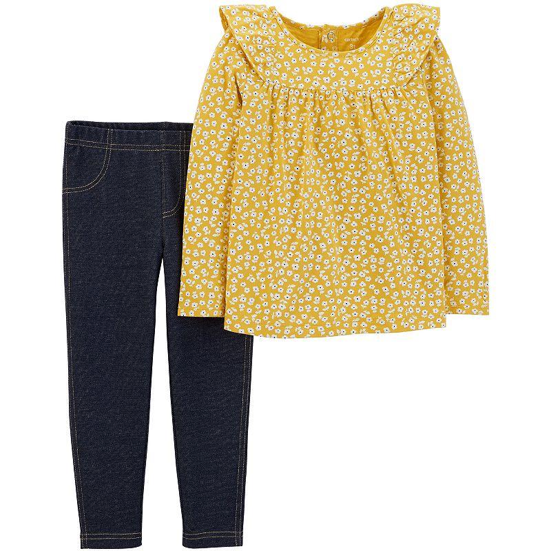 ad2d0709f SKU-239G779 Baby Girl Carter's Floral Top & Jeggings Set, Size: 12 Months