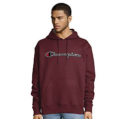Men's Champion Script Logo Pull-Over Hoodie