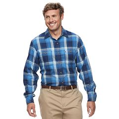 Big & Tall IZOD Harbor Plaid Classic-Fit Twill Button-Down Shirt
