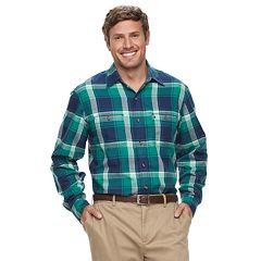 Big & Tall IZOD Harbor Plaid Classic-Fit Twill Button-Down Shirt