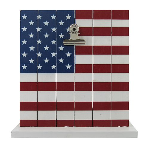 Celebrate Americana Together Rustic American Flag Photo Clip