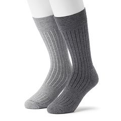Men's 2-pack Marc Anthony Ribbed Performance Crew Socks