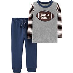 Baby Boy Carter's Football 'Tiny & Tough' Tee & Jogger Pants Set