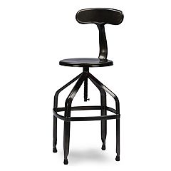 Baxton Studio Architect Industrial Counter Stool