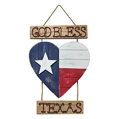 Celebrate Americana Together 'God Bless Texas' Wall Decor