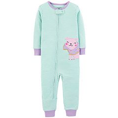 Baby Girl Carter's Donut Dog Striped Coveralls