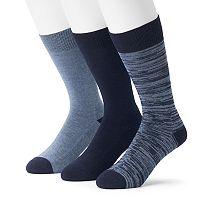 Men's 3-pack Marc Anthony Comfort Cuff Crew Socks