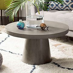 Safavieh Round Indoor / Outdoor Concrete Coffee Table
