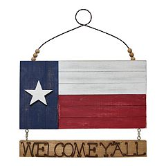 Celebrate Americana Together 'Welcome Y'all' Texas Flag Wall Decor