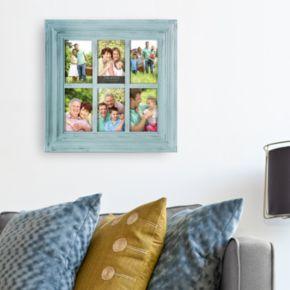 "Melannco Window Pane 6-Opening 4"" x 6"" Collage Frame"
