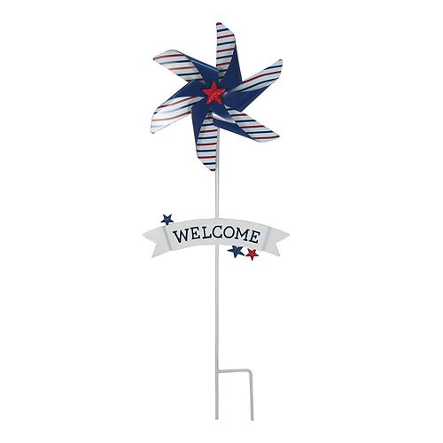 "Celebrate Americana Together ""Welcome"" Outdoor Garden Stake"