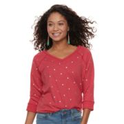 Petite SONOMA Goods for Life™ V-Neck Graphic Sweatshirt
