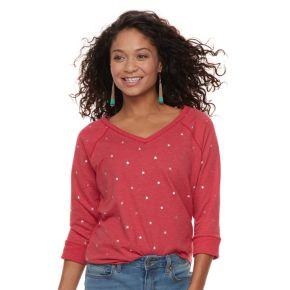 Petite SONOMA Goods for Life™ V-Neck Graphic Sweatshirt