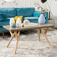 Safavieh Concrete & Wood Indoor / Outdoor Coffee Table