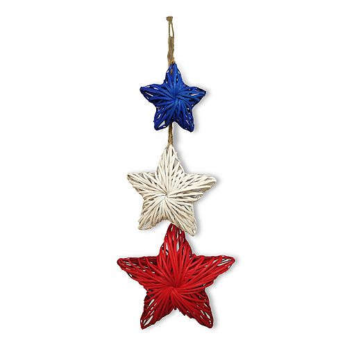 Celebrate Americana Together Patriotic Wicker Star Wall Decor