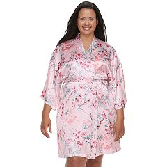 Plus Size Apt. 9® Satin Wrap Robe