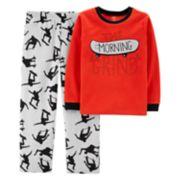 Boys 4-14 Carter's Skater Fleece 2-Piece Pajama Set