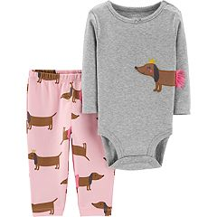 Baby Girl Carter's Ballerina Dog Bodysuit & Pants Set