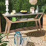 Safavieh Concrete & Wood Indoor / Outdoor Storage Console Table