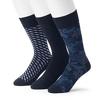 Men's 3-pack Marc Anthony Comfort Cuff Floral Crew Socks