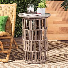 Safavieh Concrete Top Indoor / Outdoor End Table