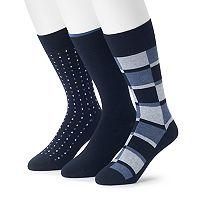 Men's 3-pack Marc Anthony Comfort Cuff Heathered Color block Crew Socks