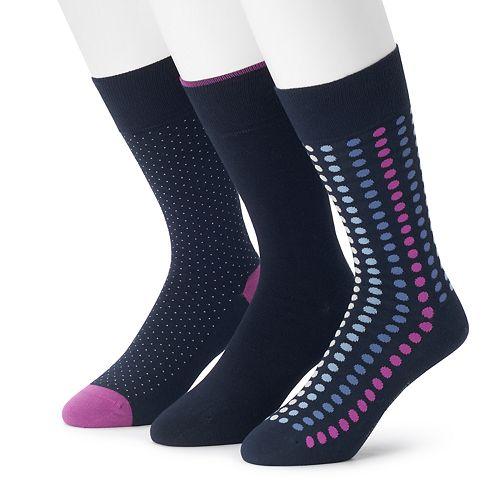 Men's 3-pack Marc Anthony Comfort Cuff Circle Print Crew Socks