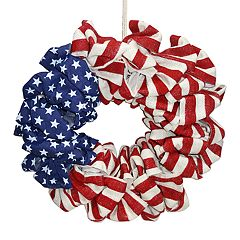 Celebrate Americana Together Indoor / Outdoor Burlap Wreath