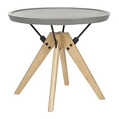 Safavieh Modern Industrial Indoor / Outdoor Round End Table