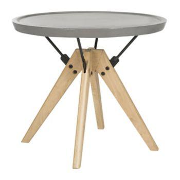 Safavieh Modern Industrial Indoor / Outdoor Round End Table