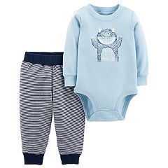 Baby Boy Carter's 'Mom's Little Monster' Bodysuit & Pants Set