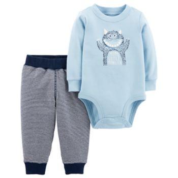 """Baby Boy Carter's """"Mom's Little Monster"""" Bodysuit & Pants Set"""