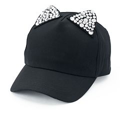Women's Mudd® Bling Cat Ears Baseball Cap