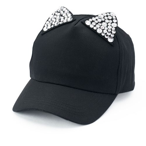 056306e6eeed7 Women s Mudd® Bling Cat Ears Baseball Cap