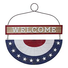 Celebrate Americana Together Bunting 'Welcome' Wall Decor