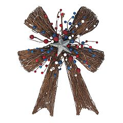 Celebrate Americana Together Pre-Lit Artificial Grapevine Wall Decor
