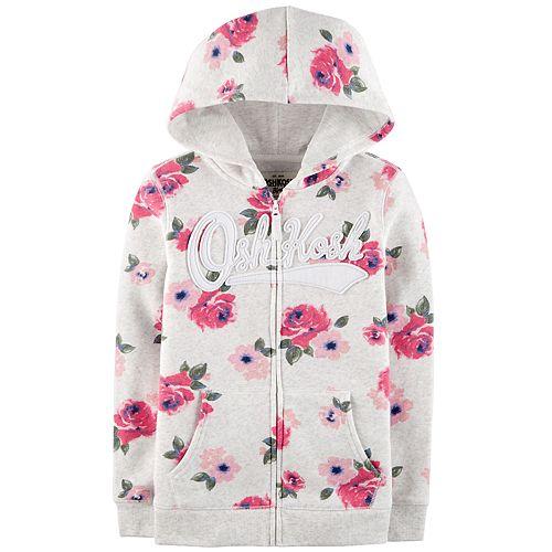 Girls 4-12 OshKosh B'gosh® Floral Hooded Sweatshirt