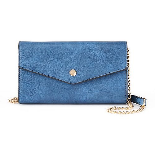 Deluxity Alina Crossbody Flap Envelope Clutch