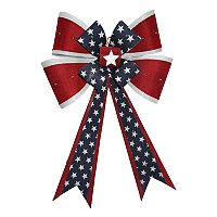 Celebrate Americana Together Indoor / Outdoor Pre-Lit Bow Wall Decor