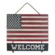 "Celebrate Americana Together ""Welcome"" American Flag Wall Decor"