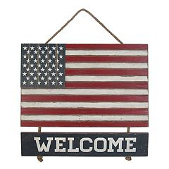 Celebrate Americana Together 'Welcome' American Flag Wall Decor