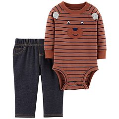 Baby Boy Carter's Bear Face Bodysuit & Pants Set