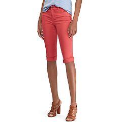 Women's Chaps Cuffed Twill Skimmer Shorts