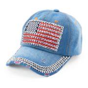 Women's Chaps Bling American Flag Baseball Cap